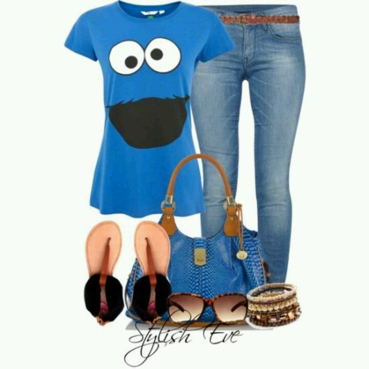 Cookie monster, styling outfit! | Chic fashionista ...