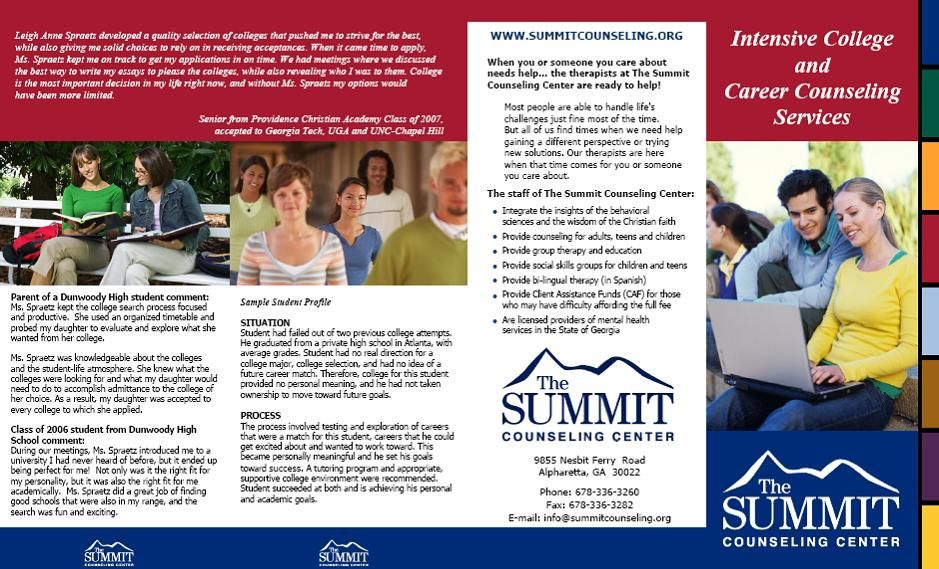 Summit Counseling Center College Prep Brochure – College Brochure