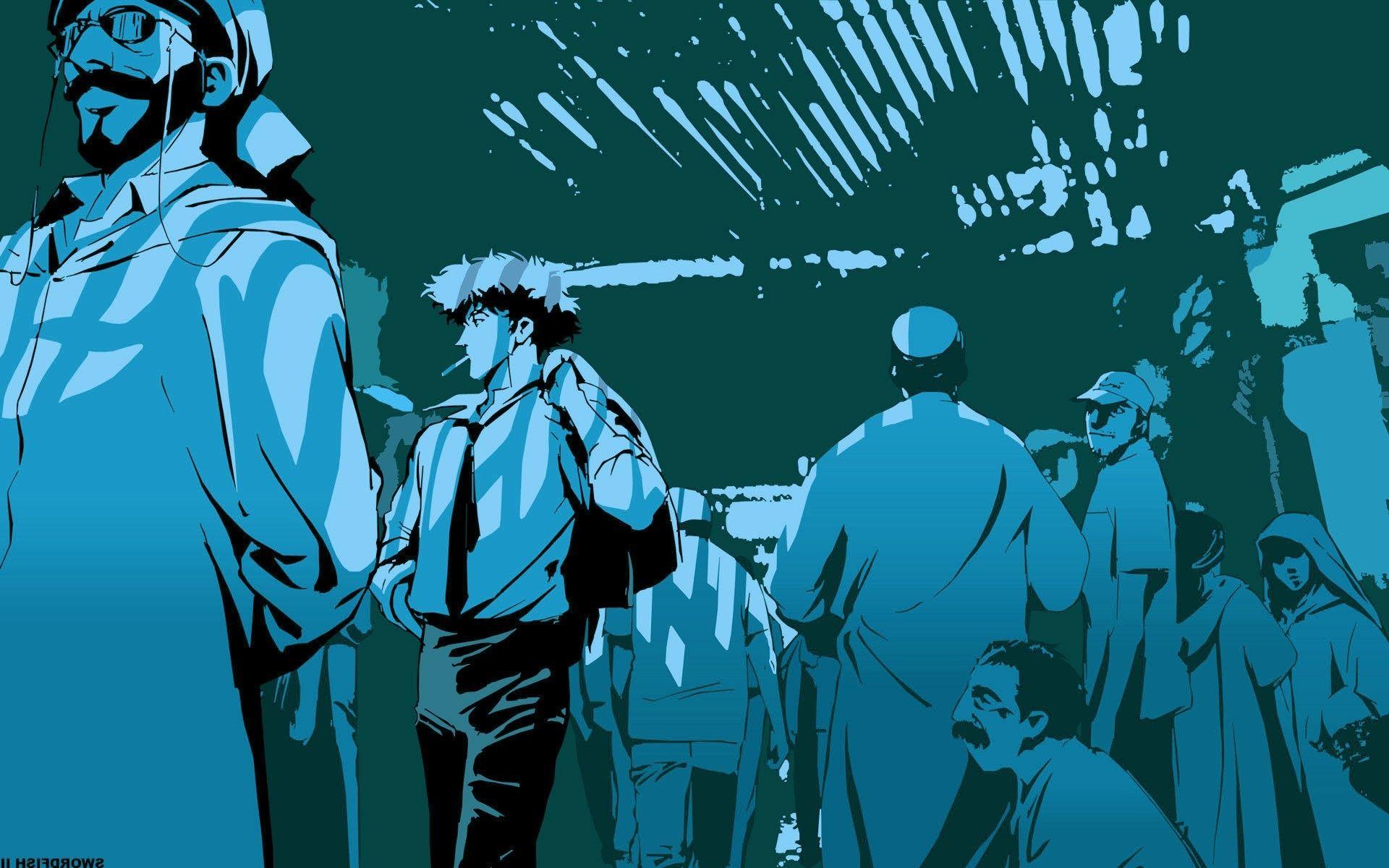 Anime Boys Cowboy Bebop Drawings WallDevil Фотографии