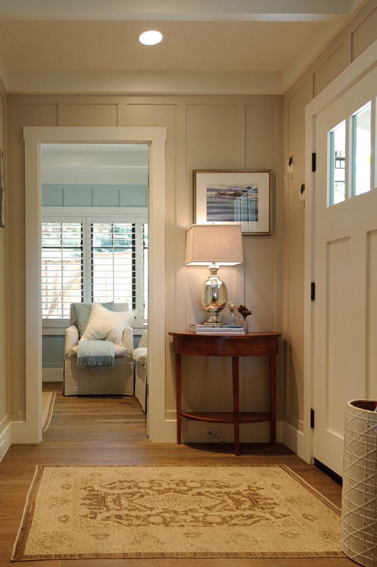 Board And Batten Dimensions Foyers Basic Beige Board And Batten Walls Are Painted Sherwin