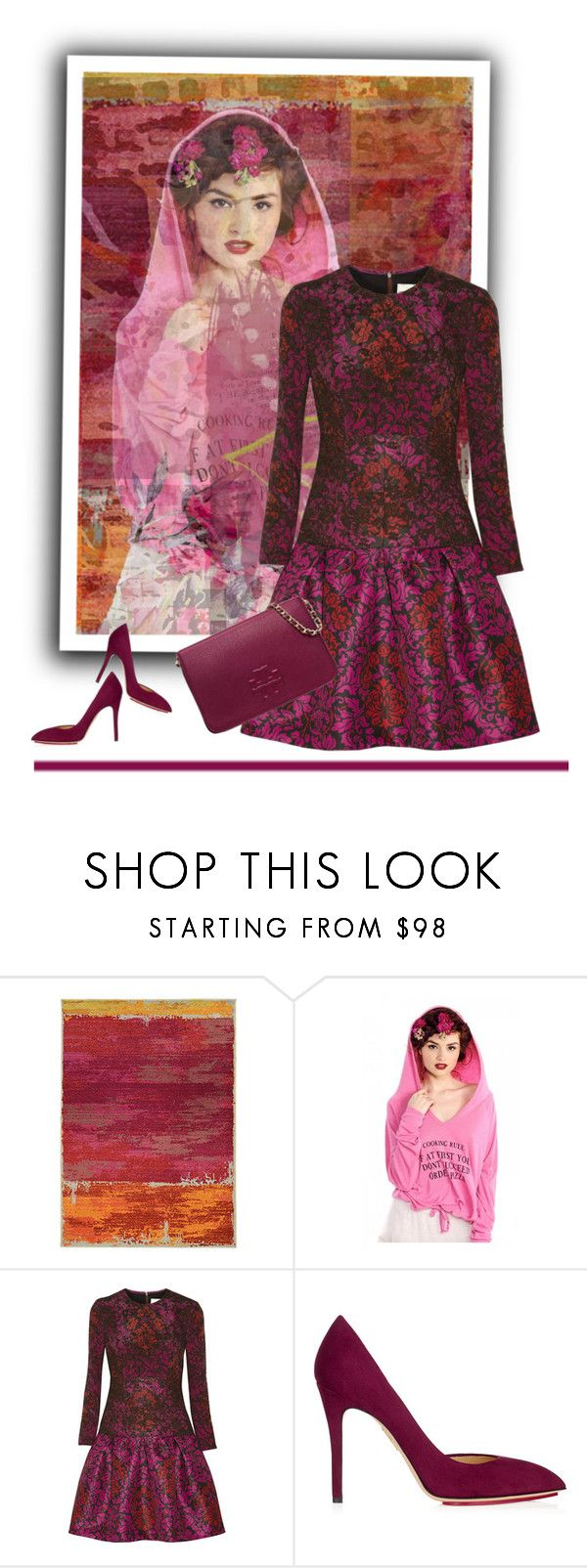 """""""Geen titel #23750"""" by lizmuller ❤ liked on Polyvore featuring Pantone Universe, Wildfox, Mary Katrantzou, Charlotte Olympia and Tory Burch"""
