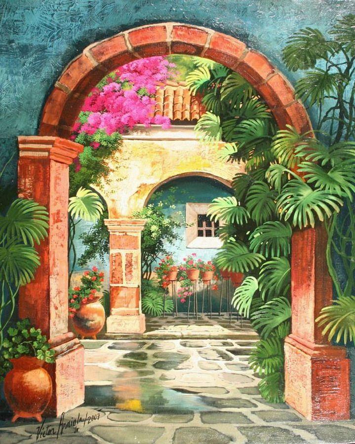 Resultado De Imagen Para Paisajes De Guatemala En Pintura Pinturas