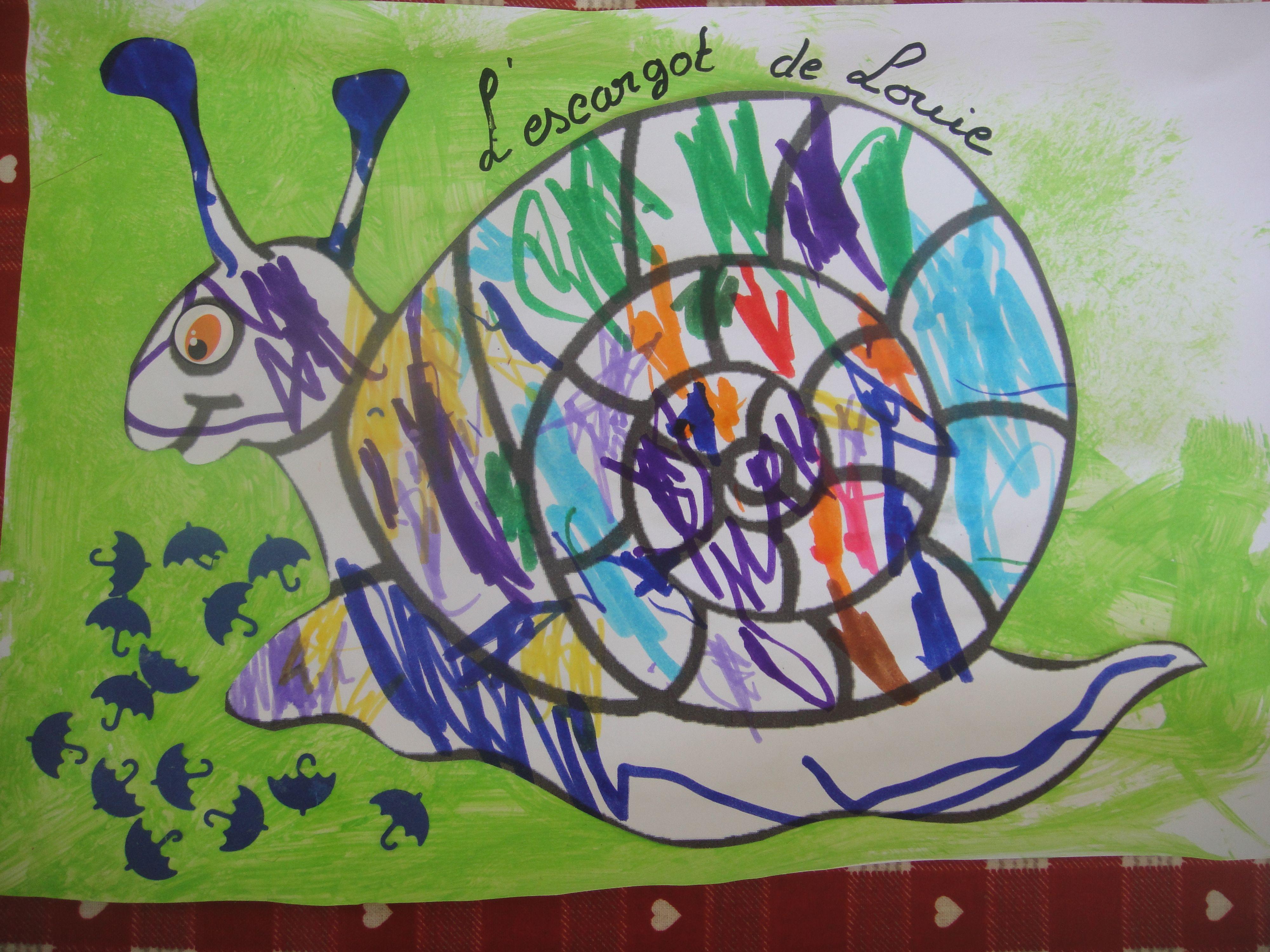 Coloriage escargot http://nounoudescimes.canalblog.com/