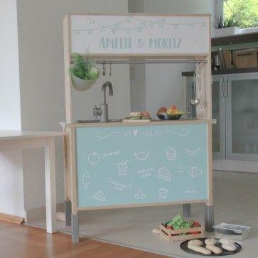 Was für ein tolle r Hack für die Ikea DUKTIG Kinderküche Einfach - küche mit folie bekleben