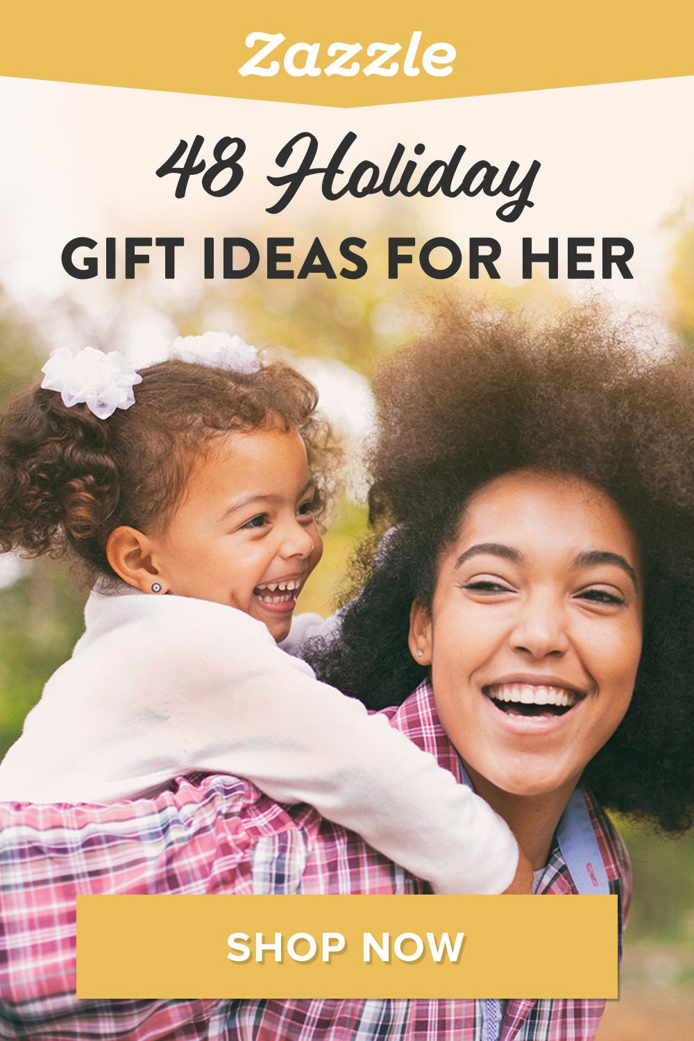 Looking on the perfect gift for mom, grandma, or sister? Check out our gift guide that features 48 ideas for her. Shop Zazzle for all things holiday including holiday cards, decor, apparel and more.
