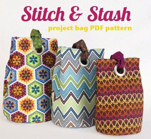 Stitch & Stash Project Bag Pattern by Betz White | Projecten om te ...