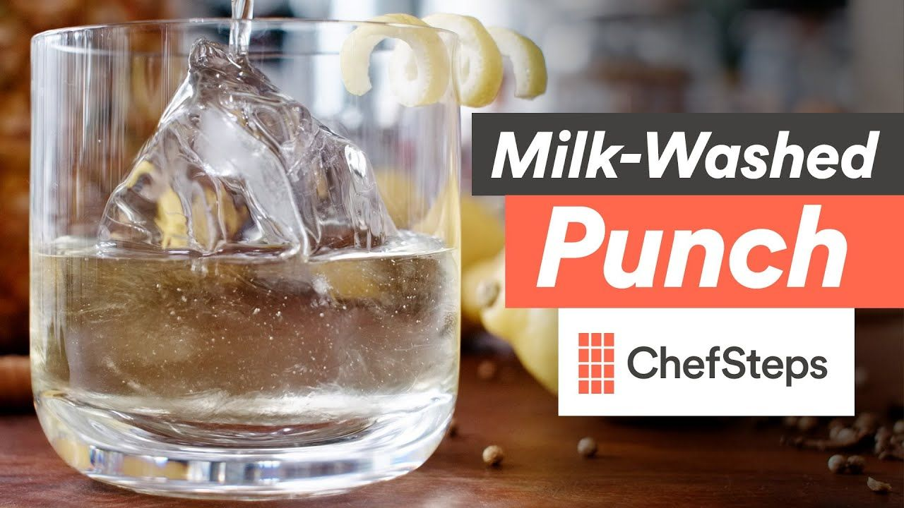 Make An Amazing Cocktail Milk Washed Rum Punch Youtube Rum