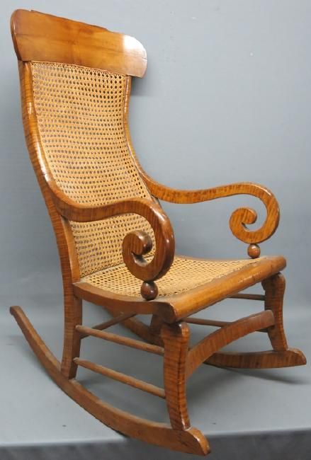 SHERATON TIGER MAPLE ROCKING CHAIR : Lot 149 - SHERATON TIGER MAPLE ROCKING CHAIR On Dream Furniture Pinterest