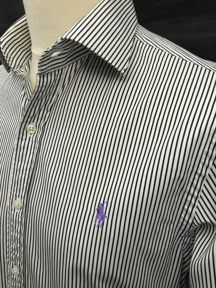Shirt White Black Large Fit Poloralphlaurenmensregent Slim LAj34R5