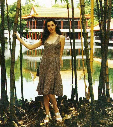 I used to love this dress from 'Miss Selfridge'. This was taken in 1996 when I was 19 years old. #Singapore #Chinese Gardens #To Be Young Again