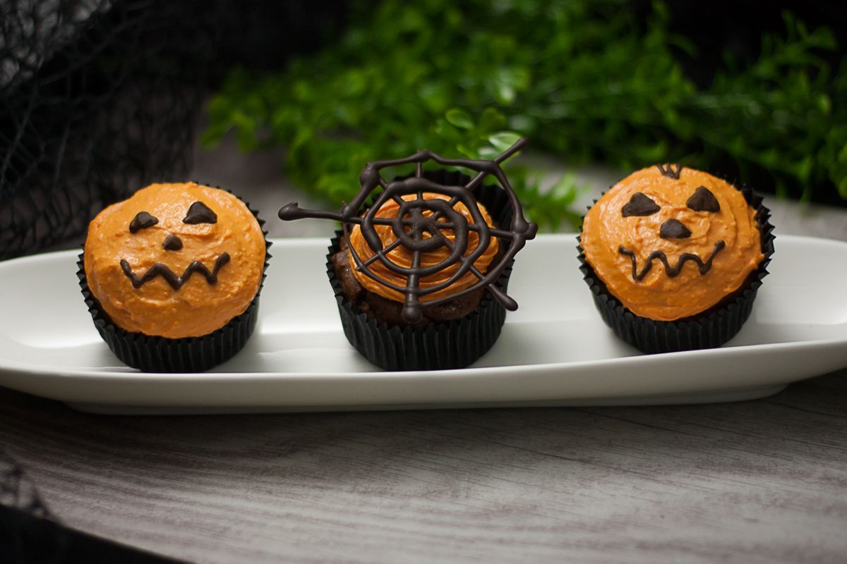 Low Carb KürbisCupcakes für Halloween Kürbis cupcakes