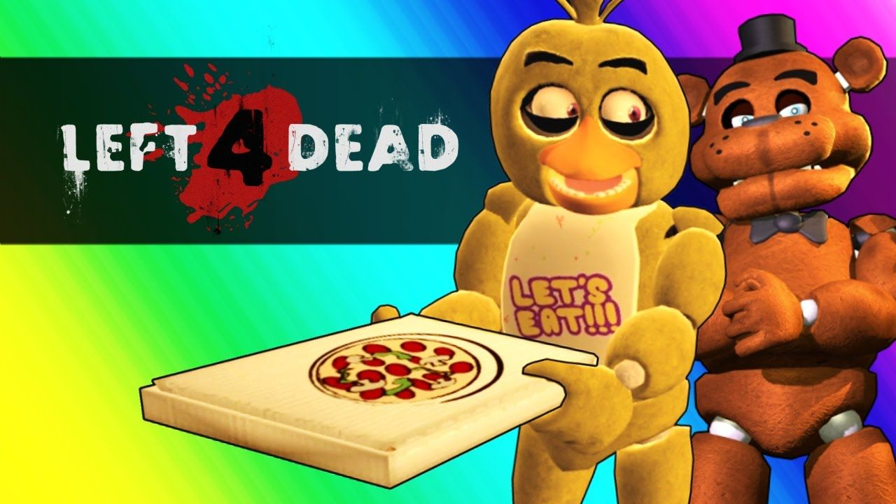 Five Nights At Freddy's Vs  Minecraft! (Left 4 Dead 2 Funny Moments