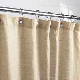 Bath Natural Shower Curtains Remodelista Burlap Shower