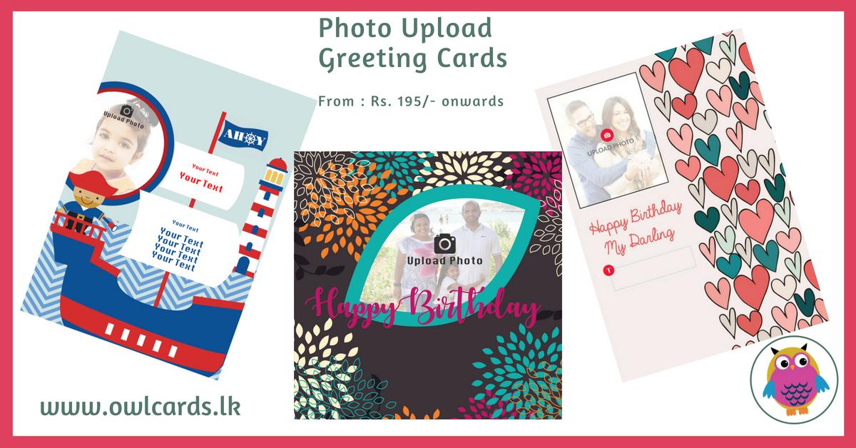 Photo Upload Portrait Card Personalise Photo Upload Personalized Birthday Cards Cards Owl Card
