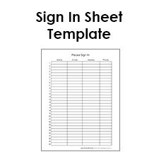 Blank Sign In Sheet Templates.