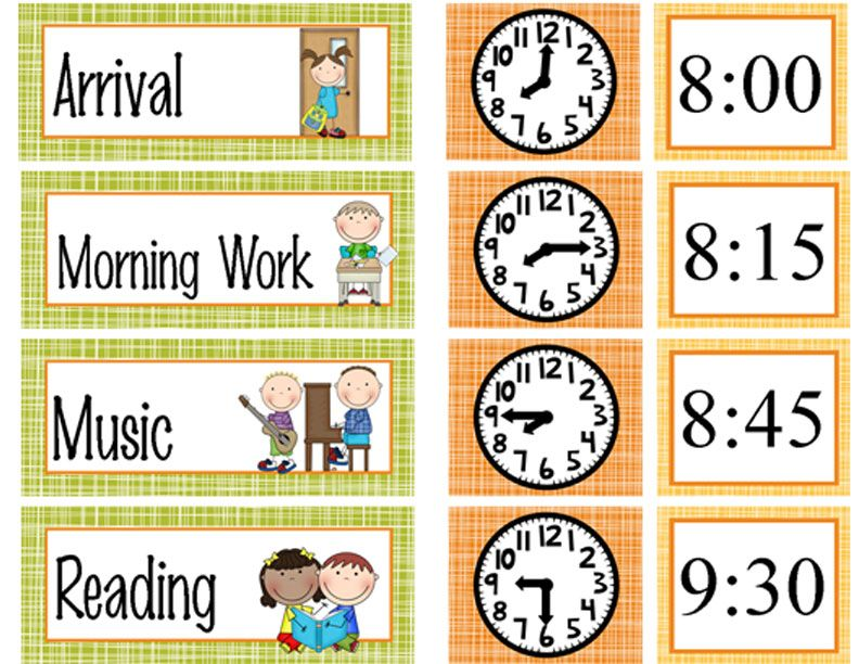 WOODLAND animals - Schedule Cards / editable MS WORD
