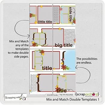 Mix and Match Double Templates 1