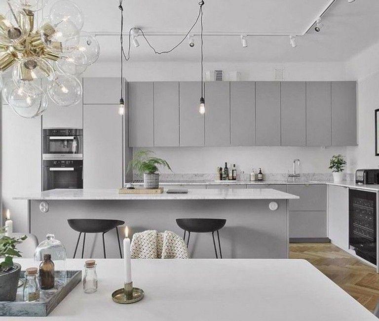 37 Cool Grey White Kitchens Design Ideas Scandinavian Kitchen Design White Kitchen Design Modern Scandinavian Kitchen