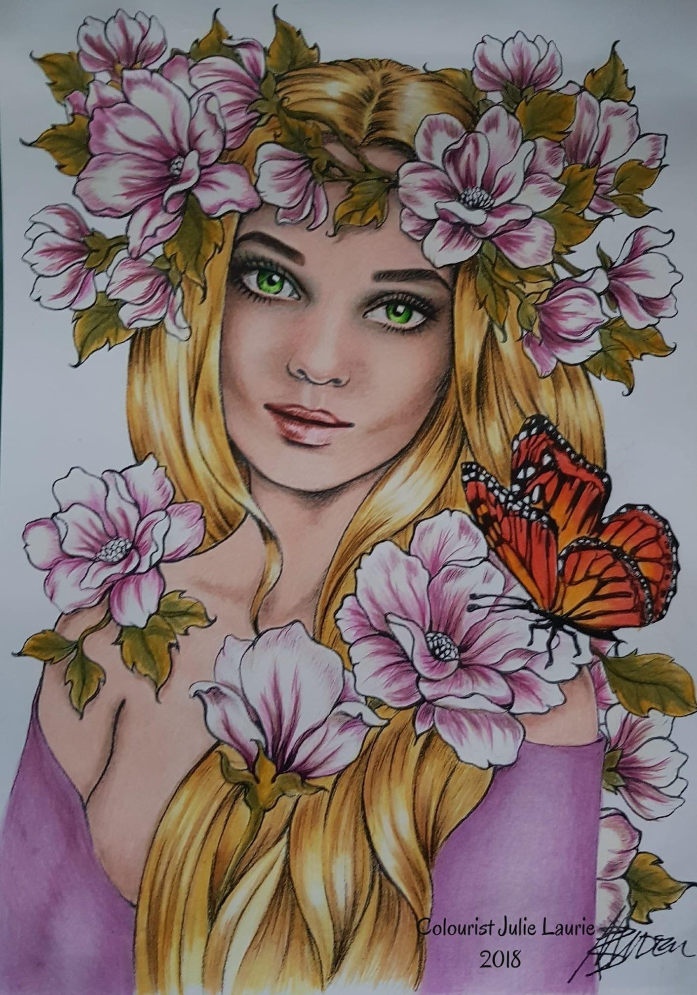 Печать девушки | Картины, Раскраски, Портрет
