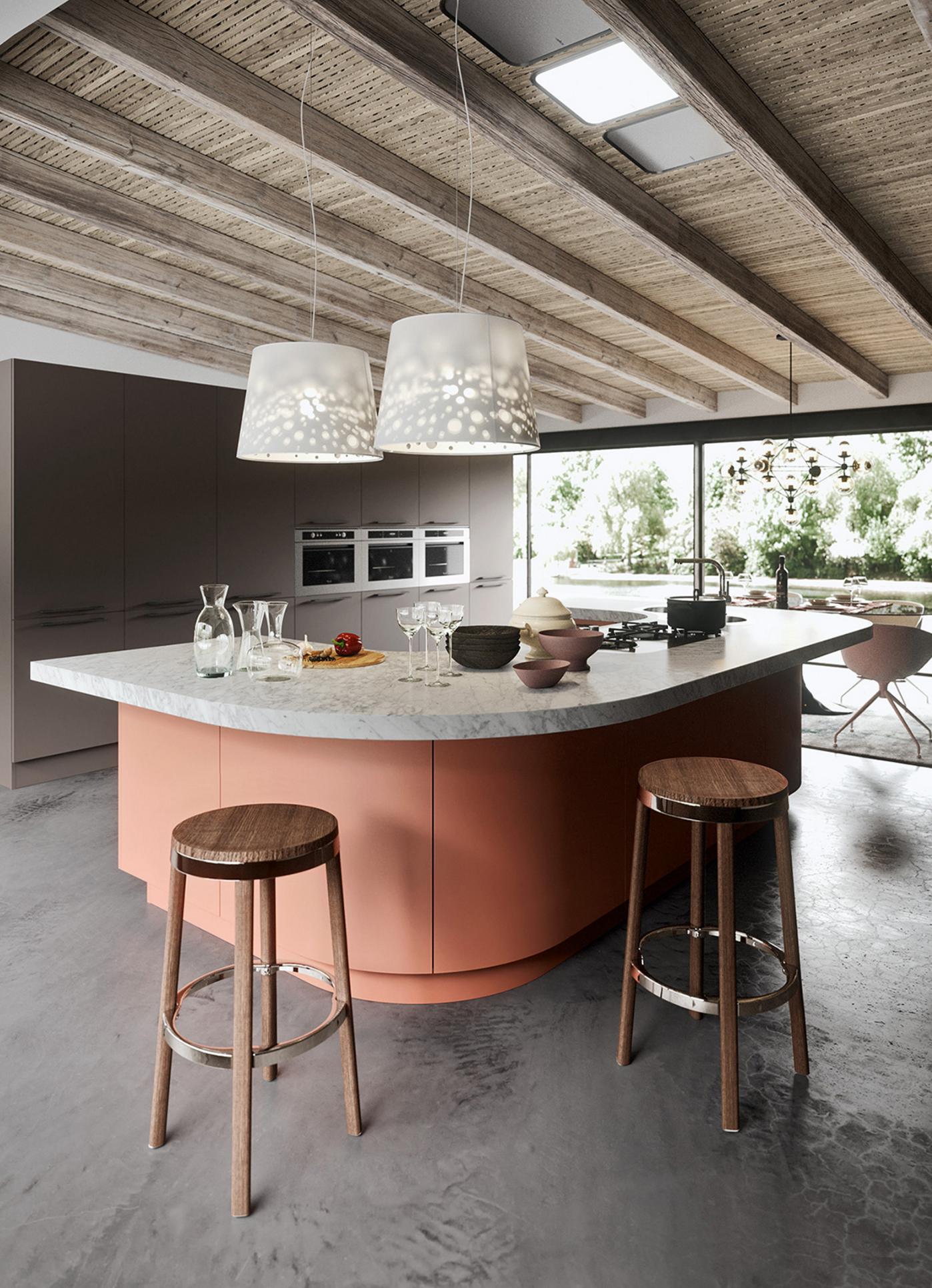 Kitchen Furniture Miami Progetto Sistema Laccato Curvo Sentimento E Gustoitaliani