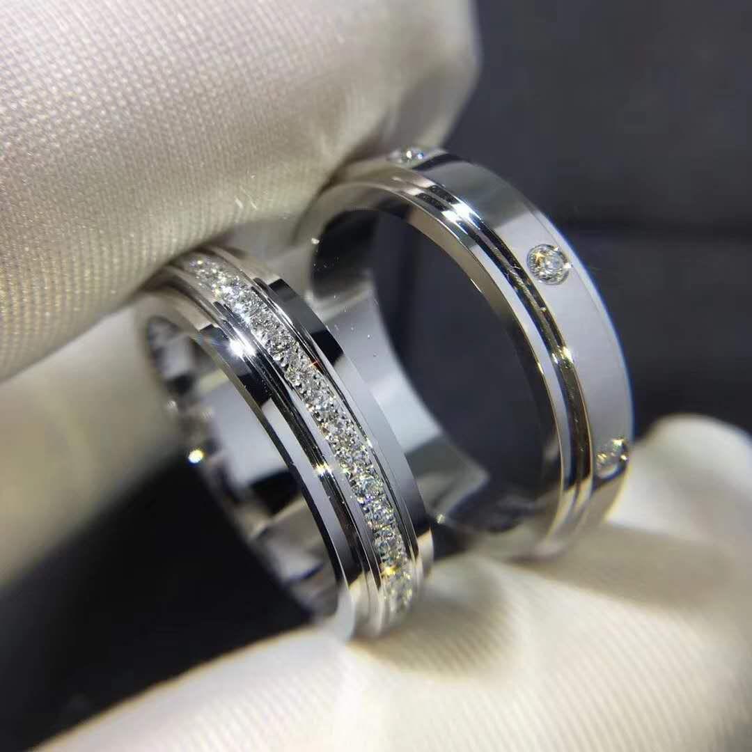 Set Of Piaget Possession Wedding Rings In 18k White Gold Couple Wedding Rings Wedding Rings Wedding Rings Engagement