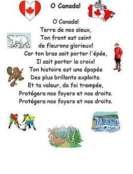 O Canada In French O Canada French Canadian National Anthem O Canada