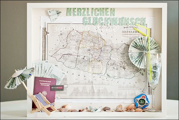 Bilderrahmen Reise Geldgeschenk Shadow Boxes Ideas Gifts