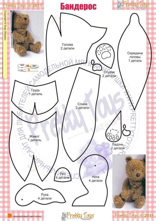 Самым сложным в изготовлении Бандероса буду ладошки и ступни, которые нужно подготовить перед тем, как сшивать детали игрушки. Нашейте пальчики и пяточки плотным швом, а затем аккуратно прорежте с обратной стороны маленькие отверстия и набейте синтепоном. Зашейте отверстия. Теперь у вас есть объемные ступни и ладошки, которые можно вшивать в соответствующие места.