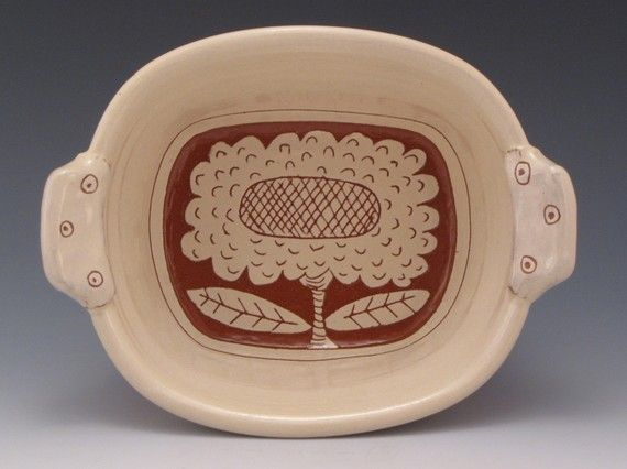 Flower Dish by RonPhilbeckPottery on Etsy, $42.00
