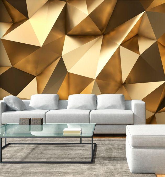 Photo Wallpaper Golden Dome Golden decor, Wall wallpaper