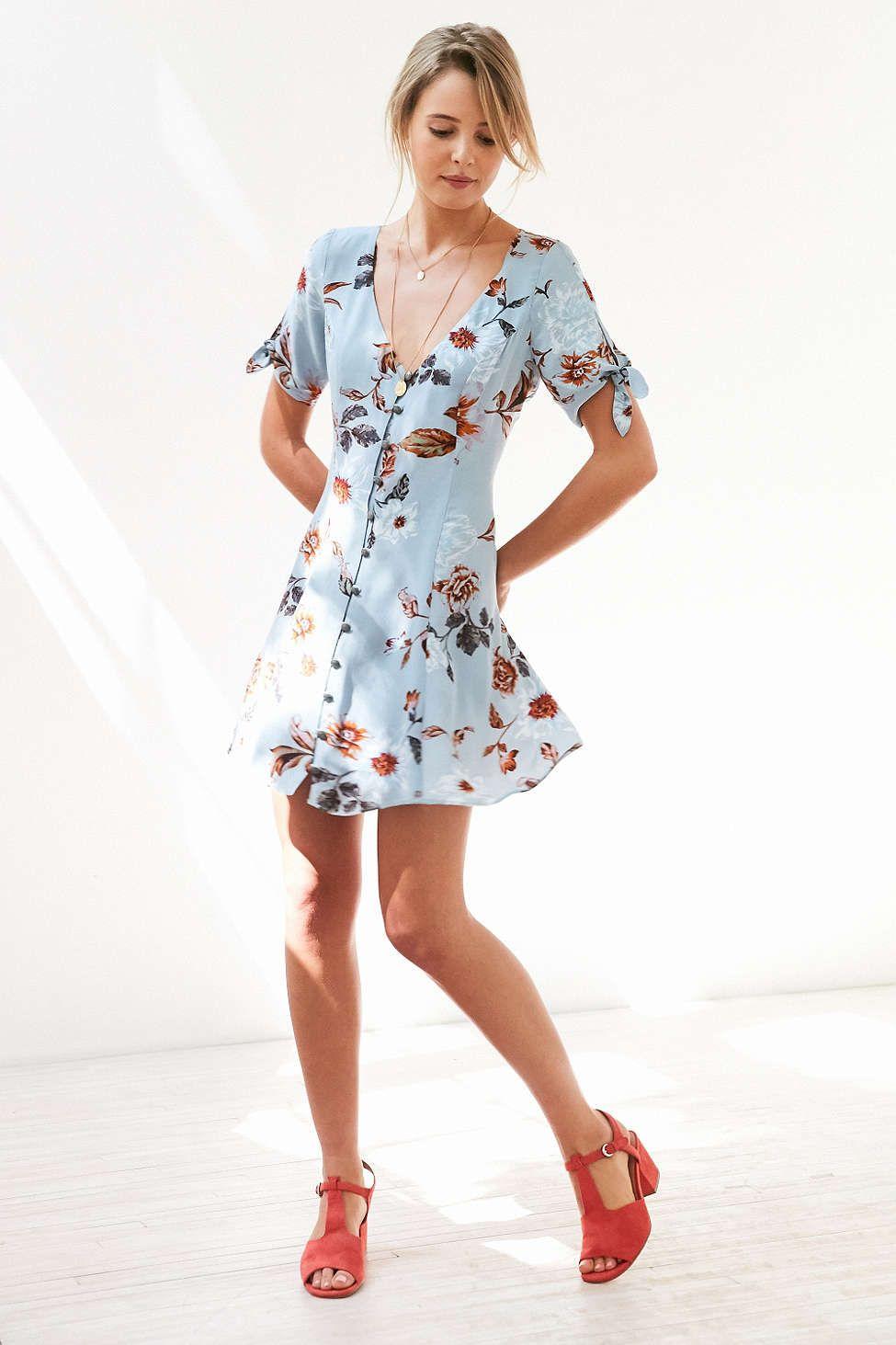 400435935e7d4 Kimchi Blue Sally Sue Tie-Sleeve Mini Dress | wants | Mini dress ...