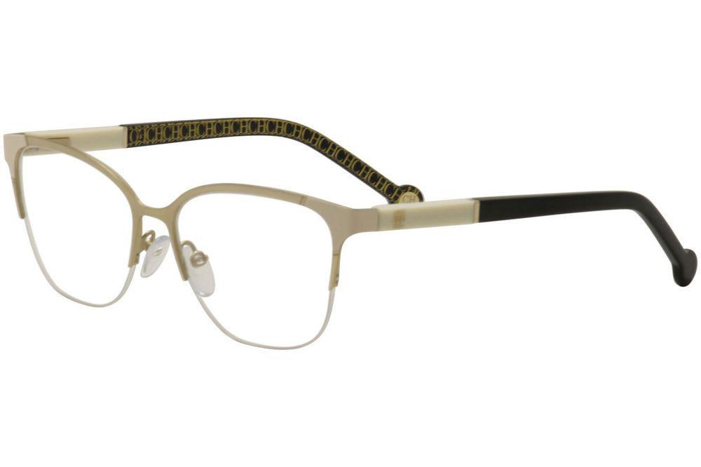41f7fab0438 CH Carolina Herrera Eyeglasses VHE091K VHE 091K 0S36 Gold Optical Frame 53mm