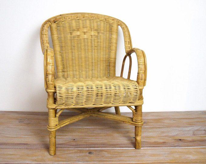 Chaise En Rotin Et Osier Pour Enfant Chaise Pour Enfant Vintage