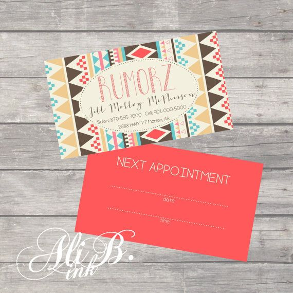 Oval Aztec Business Card Design Printable By Alibink On Etsy 15 00 Perfect For A Stylist At A Hair Salon Card Design Business Card Design Etsy