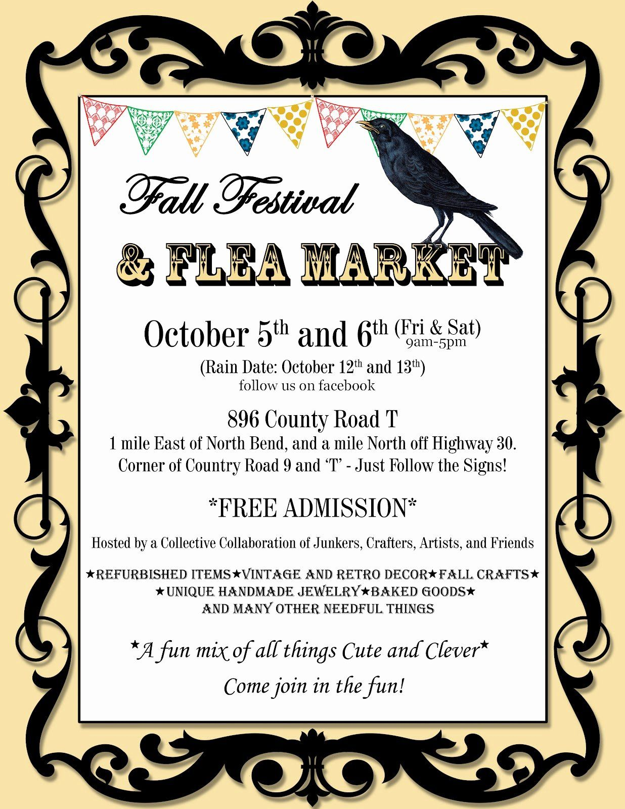 Flea Market Flyer Template Free New This Art That Makes Me Happy Halloween Crafts And Flyer Festival Flyer Halloween Crafts Flea market flyer template free