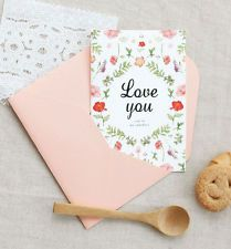 ICONIC Message Card - 1 x Message Card / Greeting Cards Including Envelope-DSKC