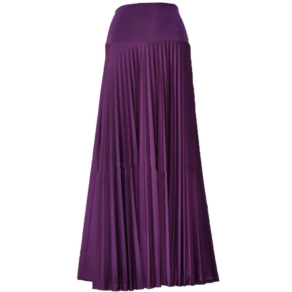 6de421dc4 DARK ORCHID Flare Jersey Pleated Maxi Skirt | Modest Long Skirt | Islamic  Clothing S M L XL