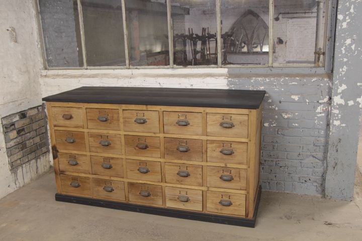 Industrial drawers cabinet - New Arrivals - European Antique Warehouse