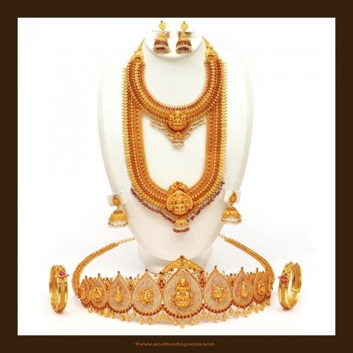 Gold Antique Bridal Jewellery Set from VBJ | Bridal Jewellery ...