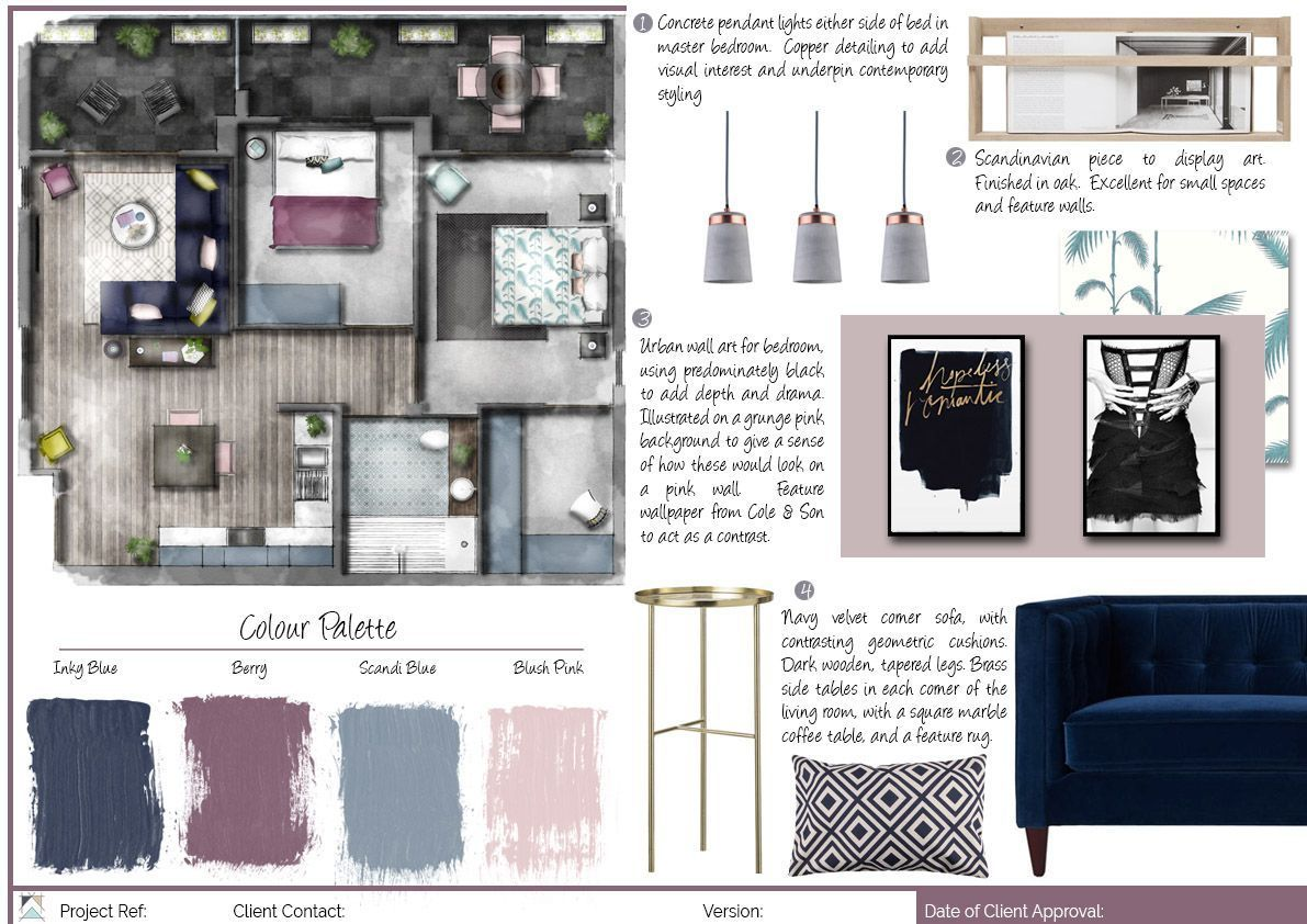 Mood Board For Interior Design Scheme Photoshop Moodboards Mood