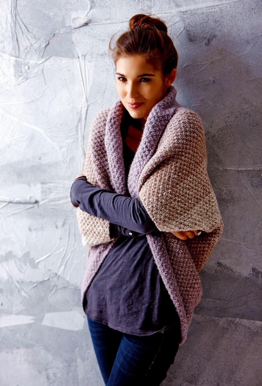 Seelenwärmer mit Farbverlauf im Perlmuster | Knitting | Pinterest ...