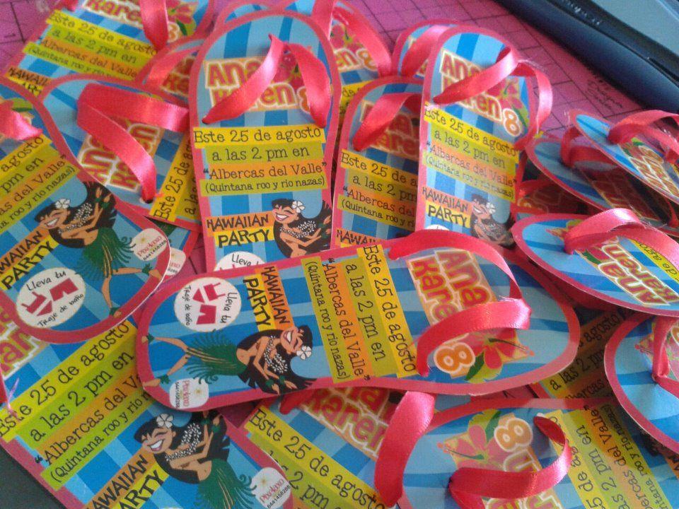 Chanclas como invitaci n para fiesta en la playa for Piscinas infantiles