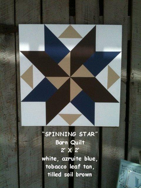 Barn Quilt, Spinning Star Pattern. | barn quilts | Pinterest ... : quilt block barn signs - Adamdwight.com