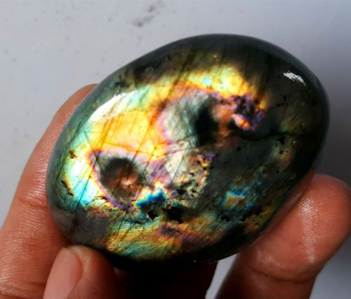 HOT-65-3G-Natural-Labradorite-Crystal-Rough-Polished-Point-From-Madagascar-YZ702