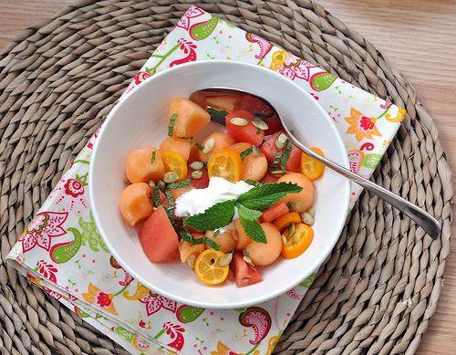 melon and mint salad