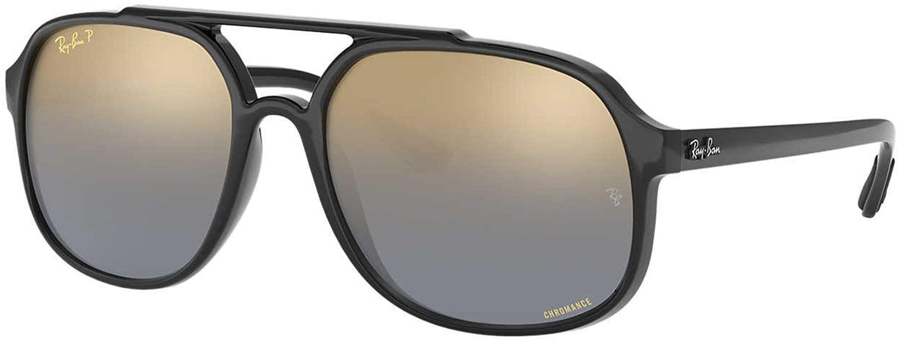 a1edd3a12af Amazon.com  Ray-Ban Men s 0rb4312ch Polarized Iridium Square Sunglasses