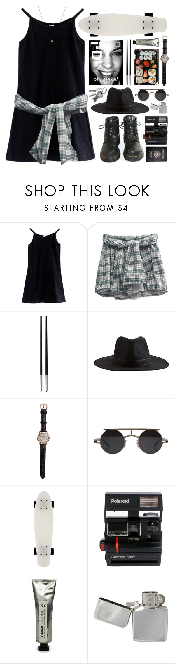 """III. telegraph ave."" by beachy-palms ❤ liked on Polyvore featuring American Apparel, Dr. Martens, Christofle, Jura, Element, Shinola, Retrò, Polaroid, Passport and L:A Bruket"