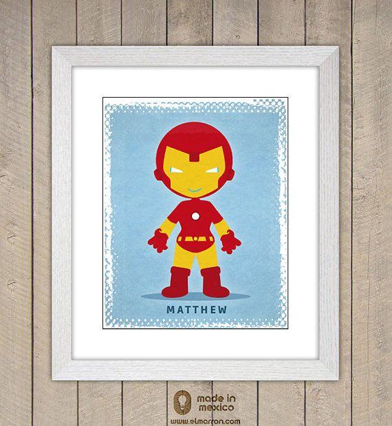 Superhero personalized digital download poster