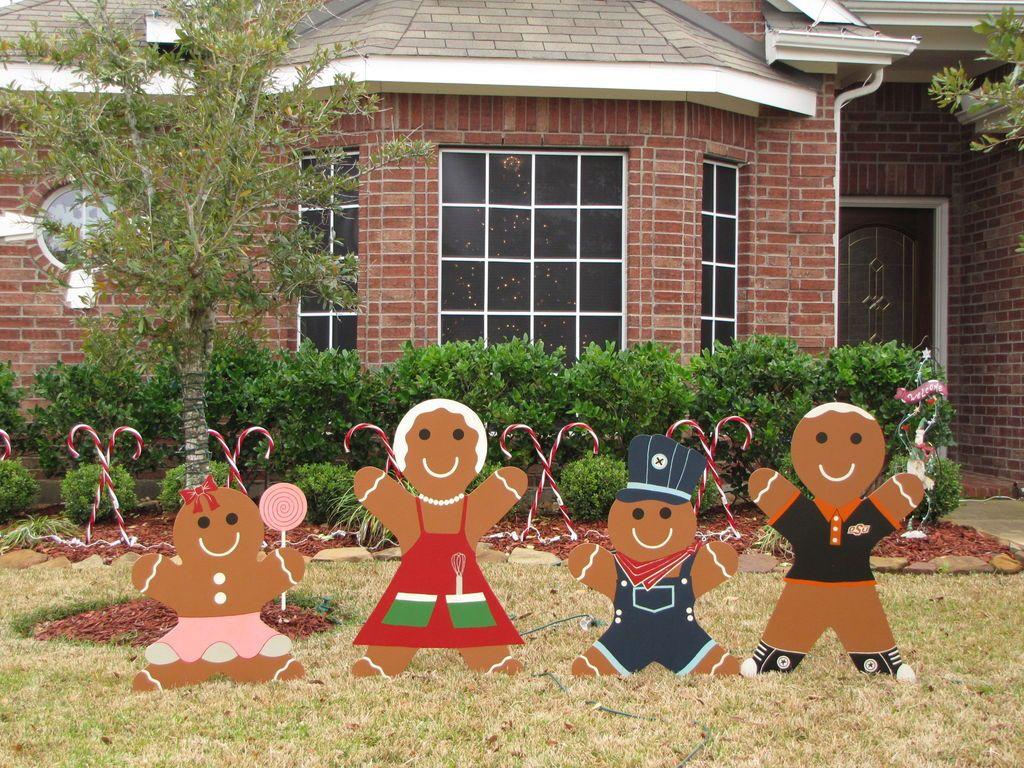 Diy christmas lawn decorations wood - Gingerbread Man Christmas Yard Decoration Updated