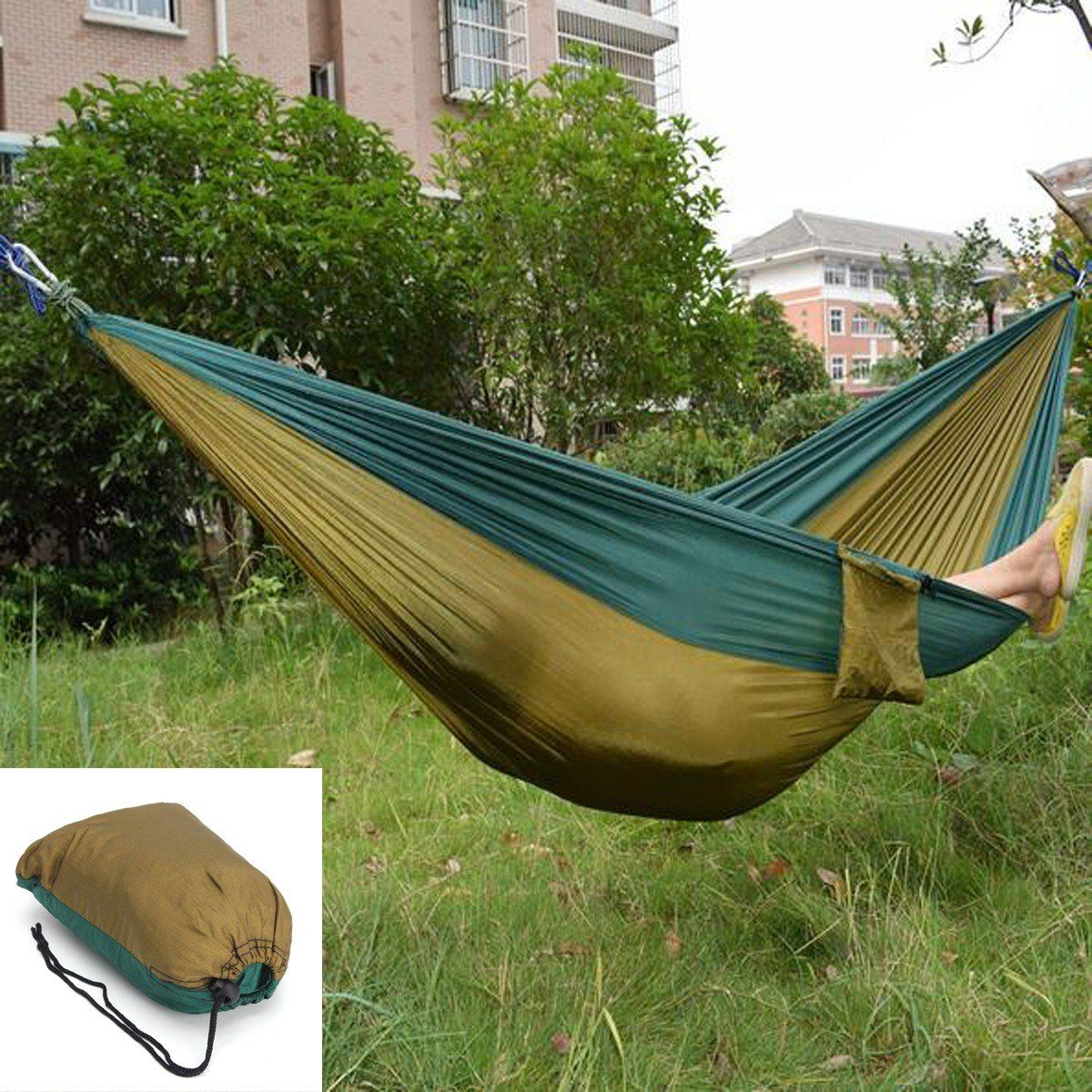 Outdoor garden portable hammock two person double swing bed for